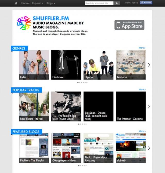 Shuffler.fm, un Flipboard musical pour iPad et un service dans ton navigateur