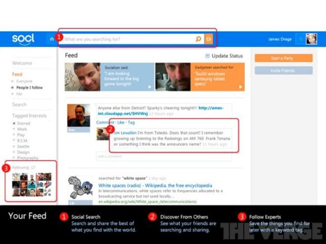 Socl, le réseau social de Microsoft ?