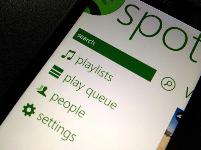 Spotify sur Windows Phone 7