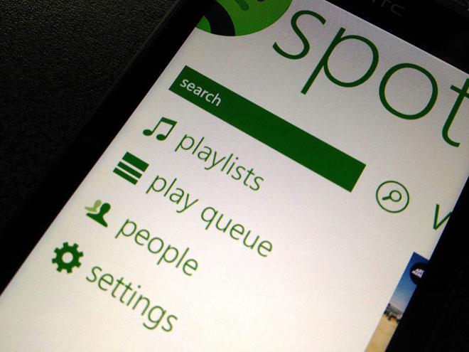 Spotify sur Windows Phone 7
