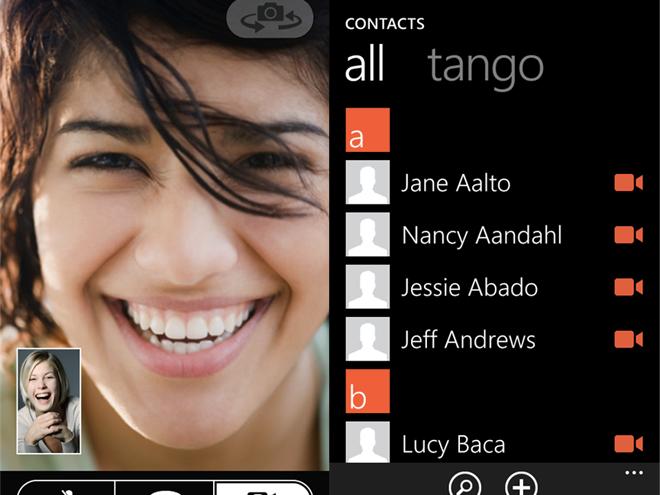 Tango, la visio-conférence débarque sur Windows Phone 7