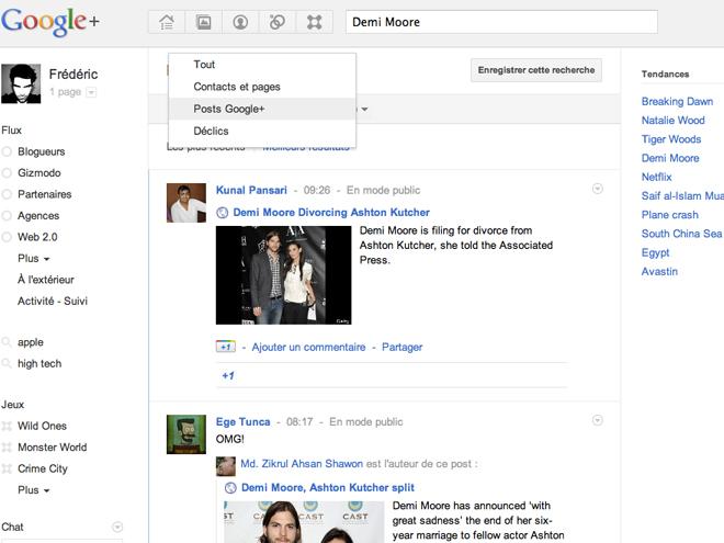 Google+ : les tendances débarquent !
