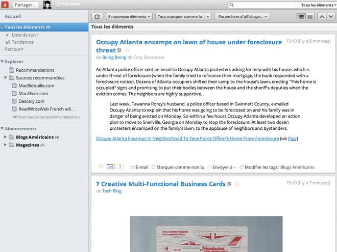Un thème Mac OS pour Google Reader
