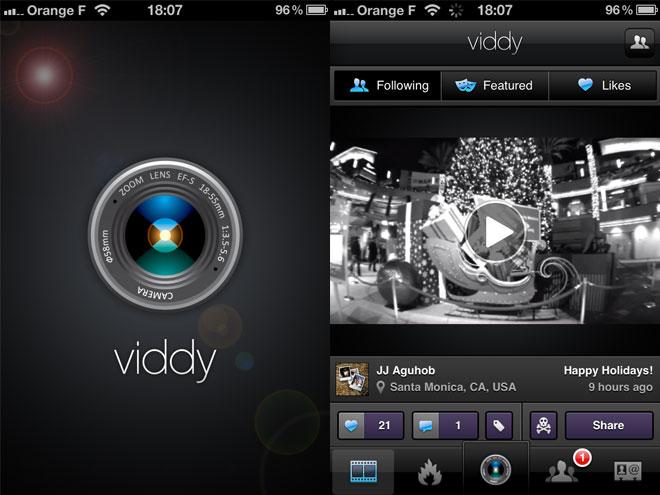Viddy, pareil que Instagram mais pour la vidéo