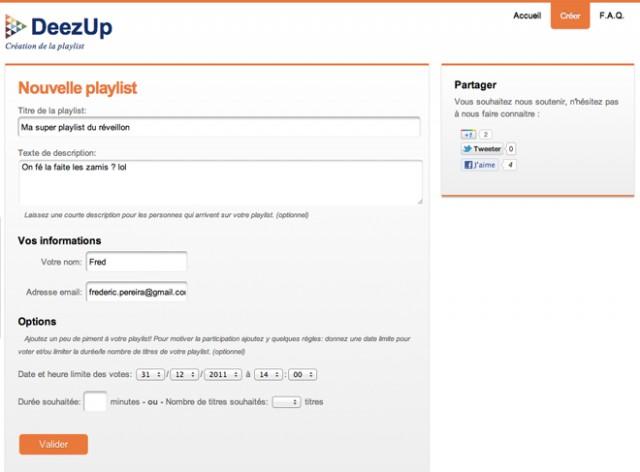 DeezUp, pour créer des playlists collaboratives sur Deezer