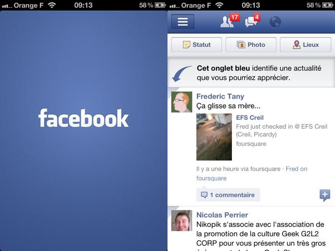 Facebook Timeline est arrivé sur iOS