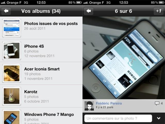 Google+ sur iOS : une mise à jour pour vos photos