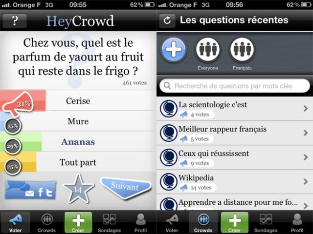 LeWeb'11 : HeyCrowd, le sondage collaboratif sur iPhone