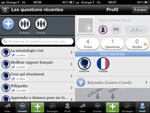 LeWeb'11 : HeyCrowd, le sondage collaboratif sur iPhone