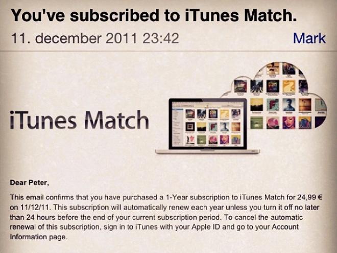 iTunes Match : déploiement en cours en Europe ?