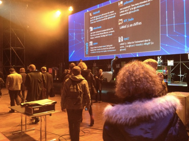 LeWeb'11 : visite des backstages