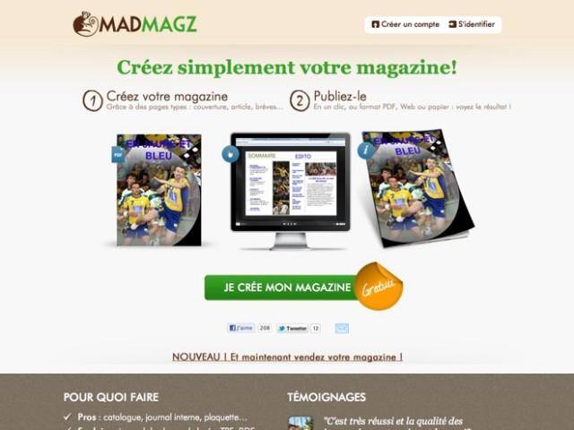 Madmagz, pour créer et imprimer son magazine