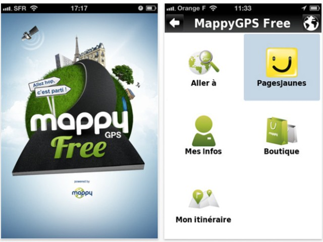 mappy gps free un gps gratuit pour ios et android. Black Bedroom Furniture Sets. Home Design Ideas