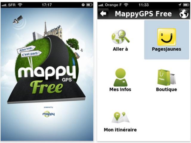 Mappy GPS Free, un GPS gratuit pour iOS et Android