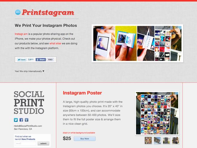Printstagram, pour imprimer ses photos Instagram