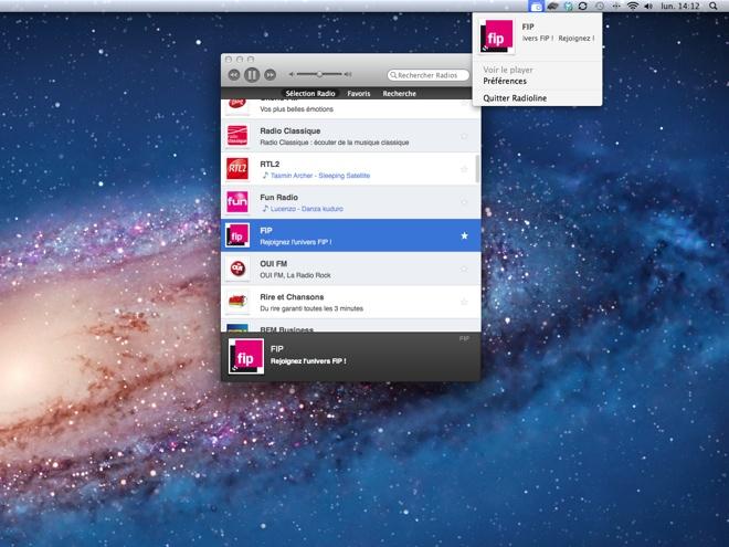Radioline, toutes les radios sur votre Mac