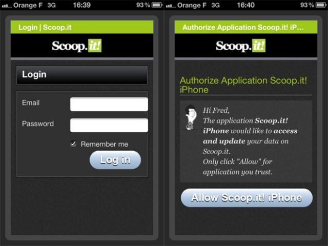 Scoop.it est maintenant disponible sur iPhone