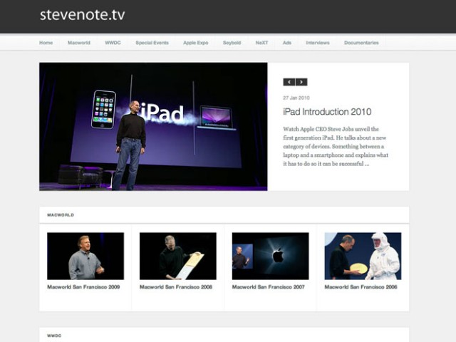 SteveNote.tv, les meilleures interventions de Steve Jobs en vidéo