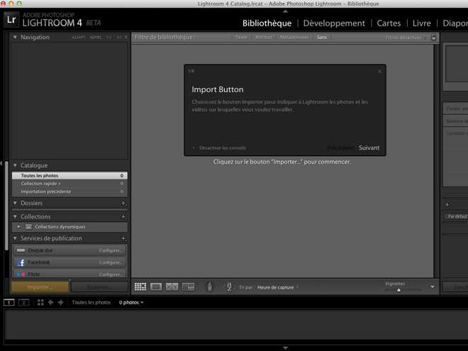 Adobe Lightroom 4 est disponible gratuitement en version bêta