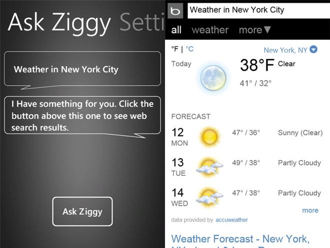 Ask Ziggy, le Siri de Windows Phone 7