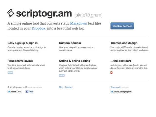 Créer un blog avec Dropbox
