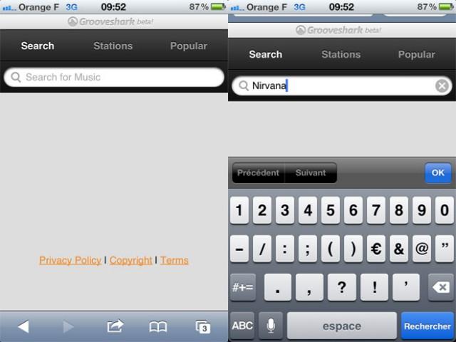 Grooveshark : une version HTML5 pour tous nos mobiles