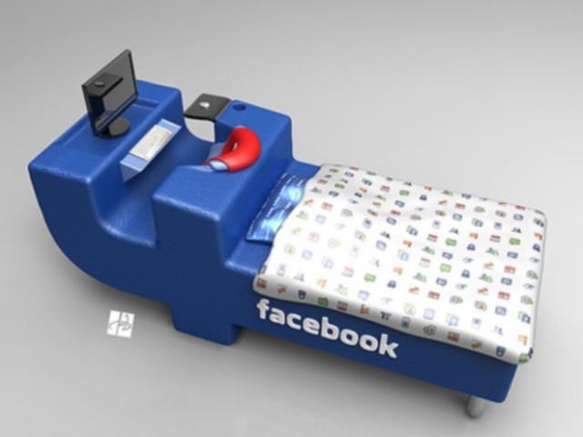 Facebook dans ton lit, ou plutôt ton lit dans Facebook, enfin...