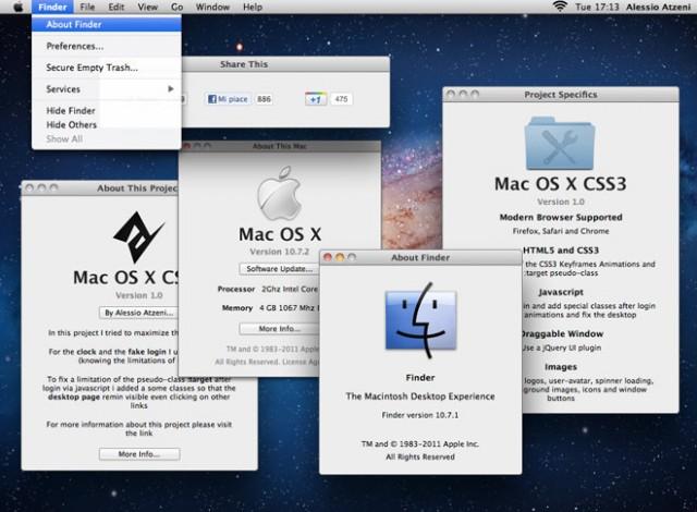 Mac OS X Lion en CSS 3