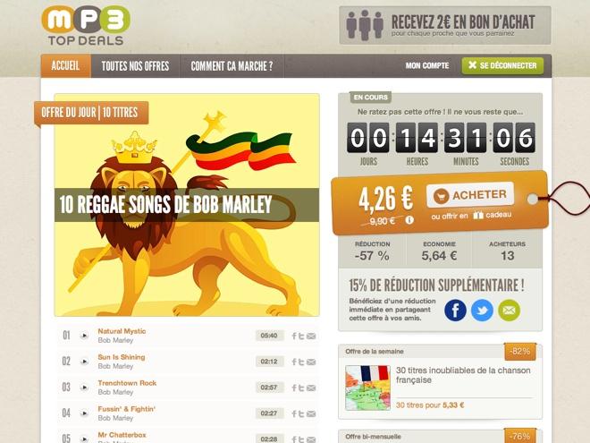 MP3TopDeals, l'achat groupé de MP3 à petit prix