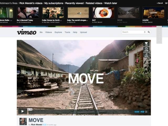 Vimeo : la nouvelle version en images et en vidéo