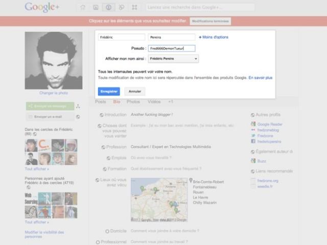 Ajouter un pseudonyme sur Google+