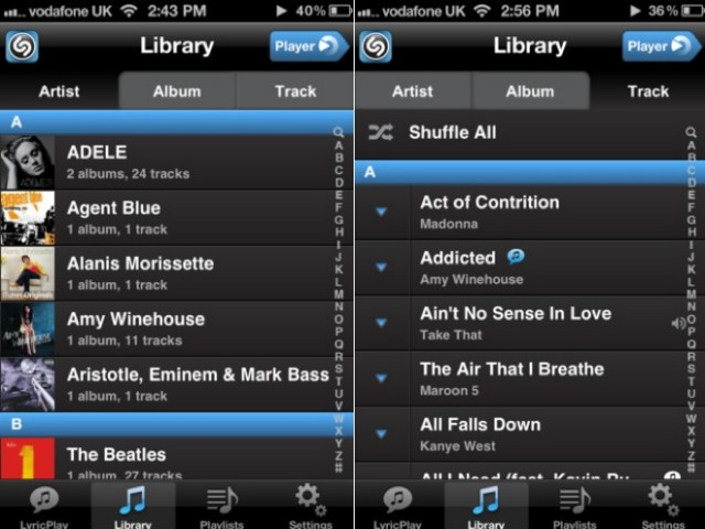 Shazam player bient t un lecteur musical sur ios - Application couper musique ...
