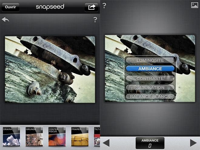 Snapseed, la retouche photo facile et complète pour iOS