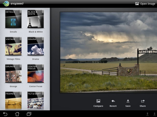 Snapseed bientôt sur Google Android