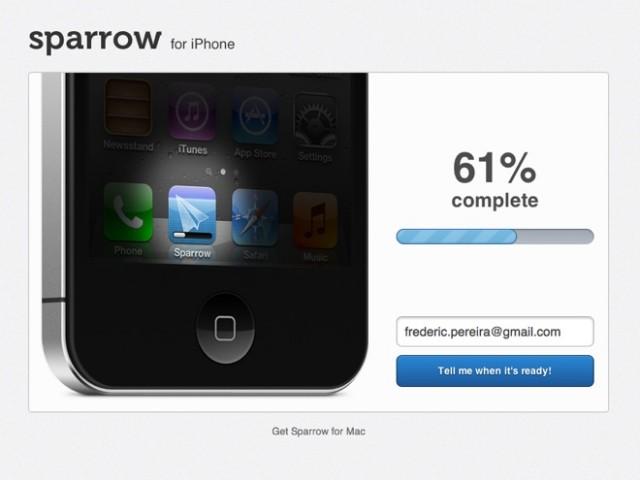 Sparrow sur iPhone : ça avance bien !