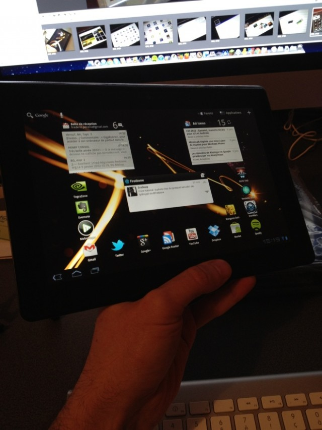 Test : Sony Tablet S