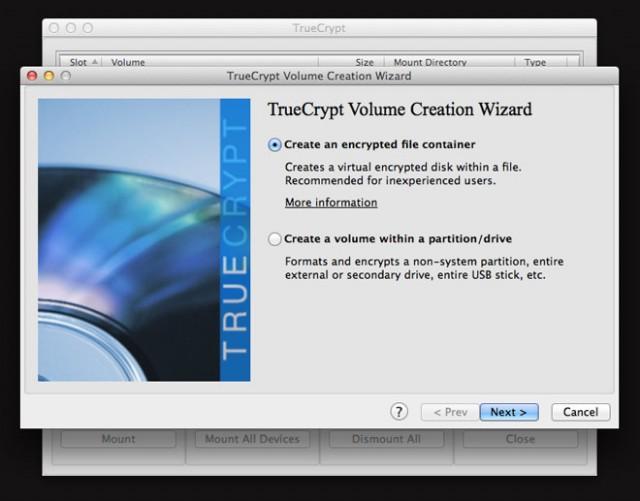 Créer un volume crypté avec TrueCrypt