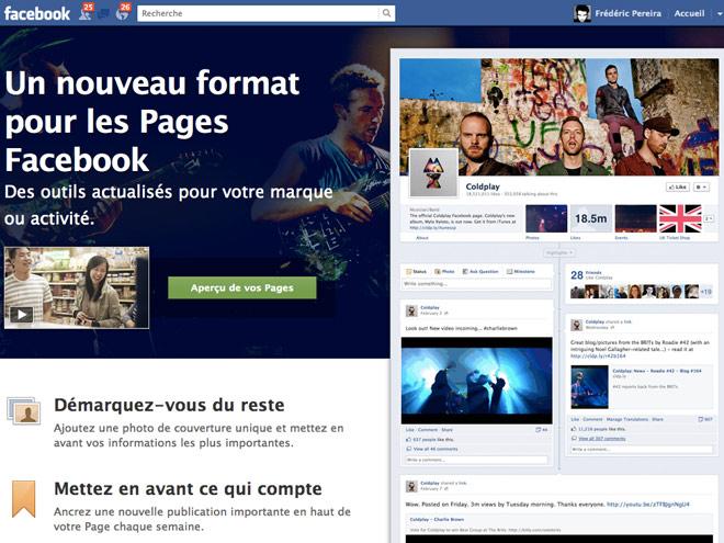 Activer Facebook Timeline pour les pages Facebook