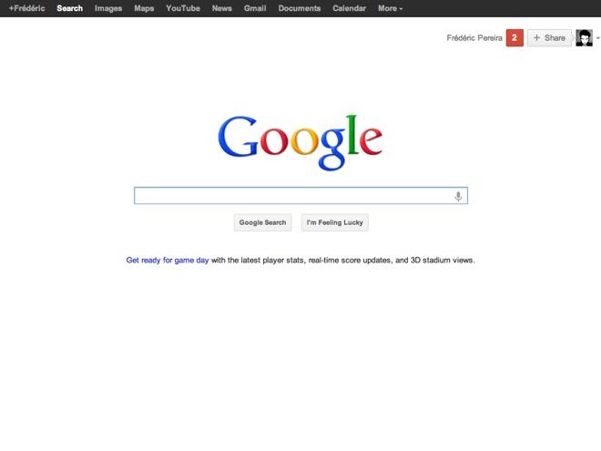 Activer la nouvelle barre de navigation de Google