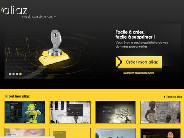 Aliaz, votre carte de visite sur le web (+ invitations)