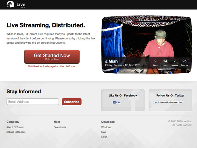 Bittorrent Live, Bittorrent fait dans le streaming en P2P