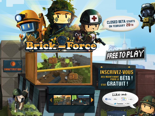 Brick Force, un FPS multi à la sauce Minecraft