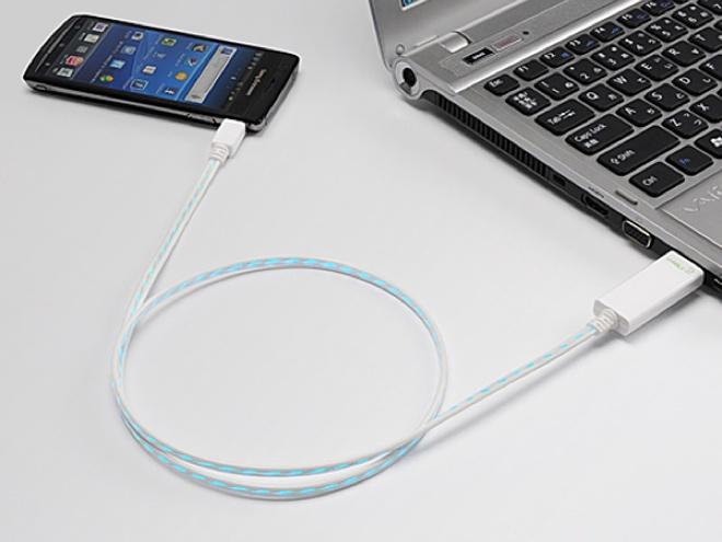 Un câble usb lumineux pour votre mobile !