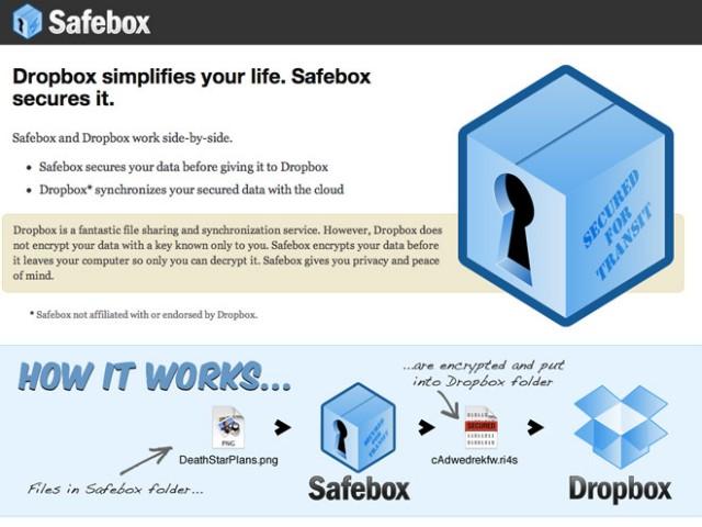 Safebox, pour chiffrer ses fichiers avant de les envoyer sur Dropbox