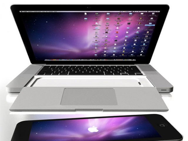 Concept : un MacBook Pro avec un emplacement pour un iPad