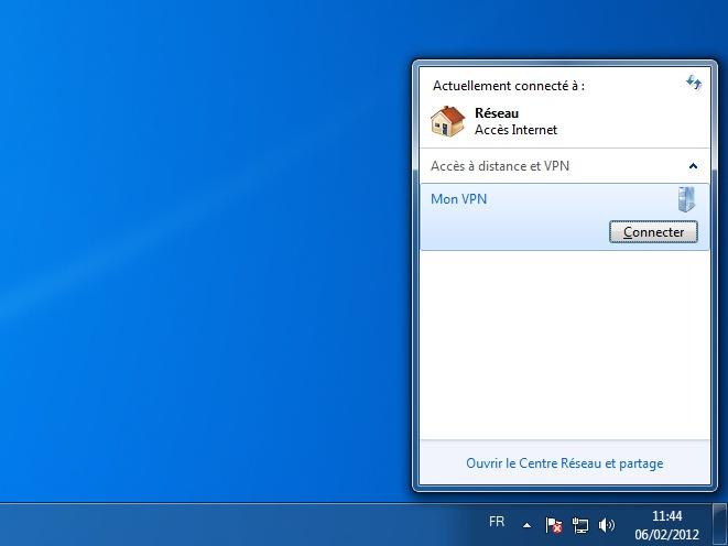 Configurer un VPN sur Windows 7 en PPTP, IPsec ou Open VPN