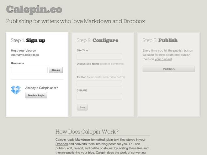 Créer son blog hébergé sur Dropbox avec Calepin