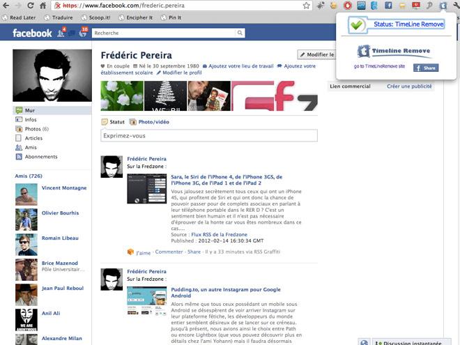 Supprimer Facebook Timeline, une autre méthode beaucoup plus simple