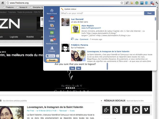 Accéder à Facebook depuis Google Chrome grâce à Facebook!