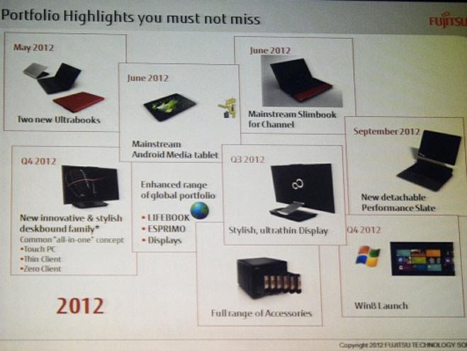 Fujitsu : pas mal de nouveautés pour 2012